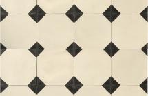 Wit-zwart combinaties in vloer- en wandtegels